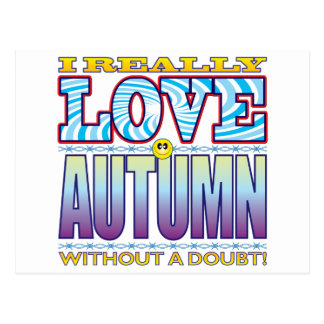 Cara del amor del otoño tarjeta postal