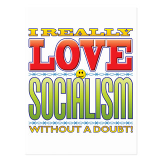 Cara del amor del socialismo postal