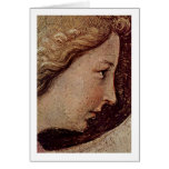 Cara del ángel del anuncio por Fra Angelico Tarjeta