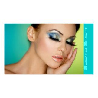 Cara del artista de los cosméticos del maquillaje plantillas de tarjetas personales