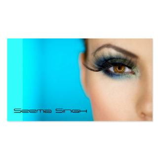 Cara del artista de los cosméticos del maquillaje plantillas de tarjeta de negocio