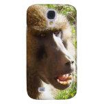 Cara del babuino que muestra los dientes