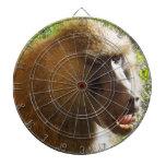 Cara del babuino que muestra los dientes tabla dardos