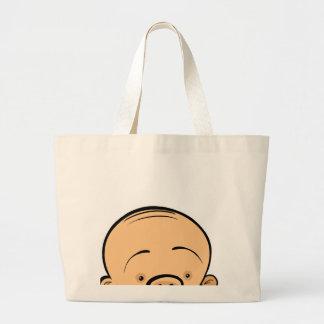 Cara del bebé bolsa tela grande