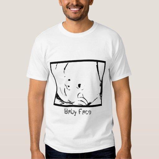 cara del bebé de la camiseta - personalizable remeras