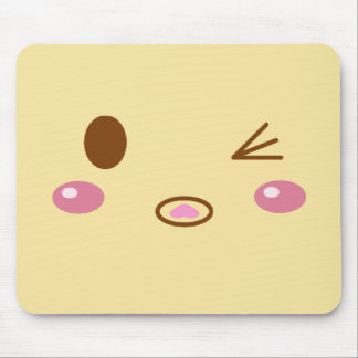 Cara del bollo de la carne mouse pad