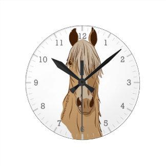 Cara del caballo de Paso Fino Reloj Redondo Mediano