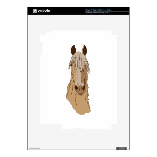 Cara del caballo de Paso Fino Calcomanías Para iPad 2