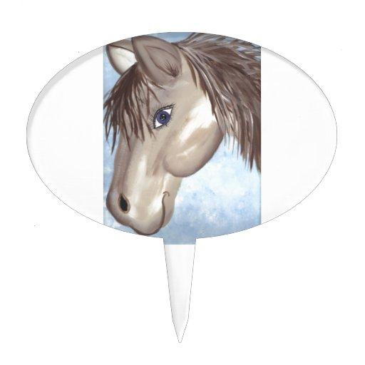 Cara del caballo decoración para tarta