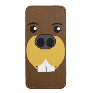 Cara del castor bolsillo para iPhone