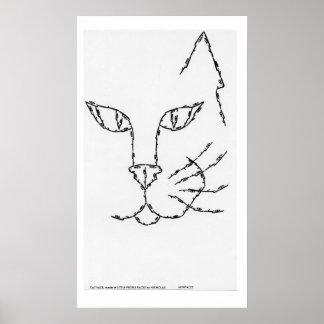 CARA del CAT, hecha de CARAS de la PEQUEÑA GENTE Impresiones