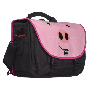 Cara del cerdo bolsas de portatil