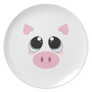 Cara del cerdo platos