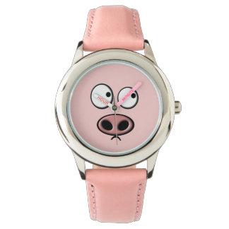 Cara del cerdo reloj