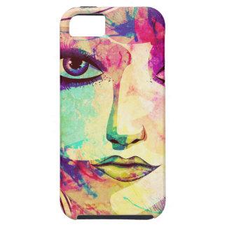 Cara del chica de la belleza iPhone 5 fundas