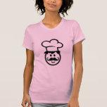 Cara del cocinero del cocinero camisetas