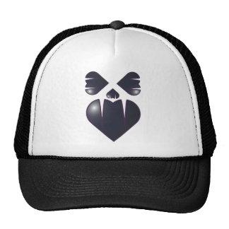 Cara del colmillo del corazón gorras