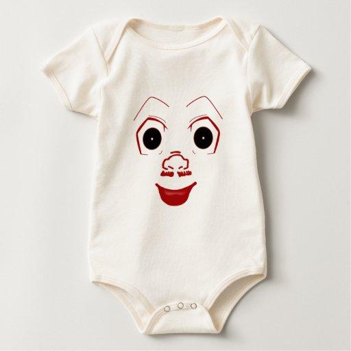 Cara del comodín trajes de bebé