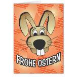 Cara del conejito - alemán tarjeta de felicitación