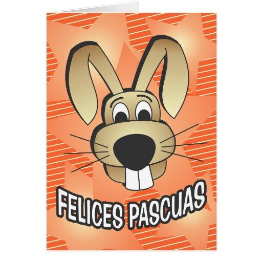 Cara del conejito - español tarjeta de felicitación