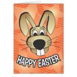 Cara del conejito tarjeta de felicitación