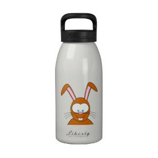 Cara del conejo de conejito del dibujo animado botella de agua reutilizable