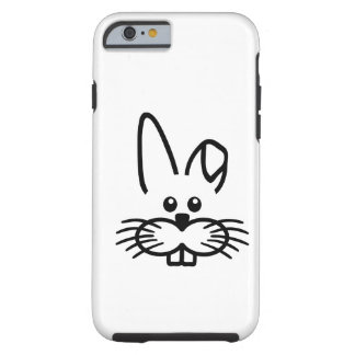 Cara del conejo de conejito funda de iPhone 6 tough