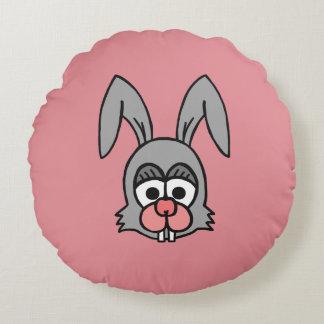 Cara del conejo cojín redondo