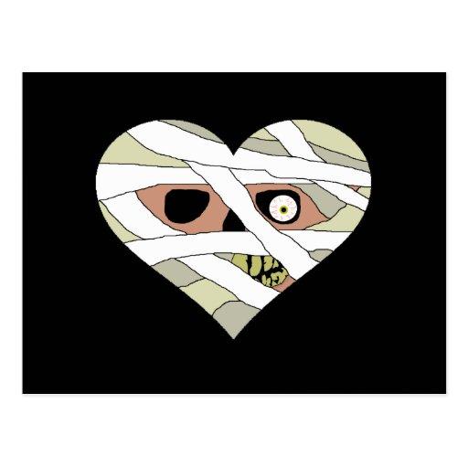 Cara del corazón de la momia postal