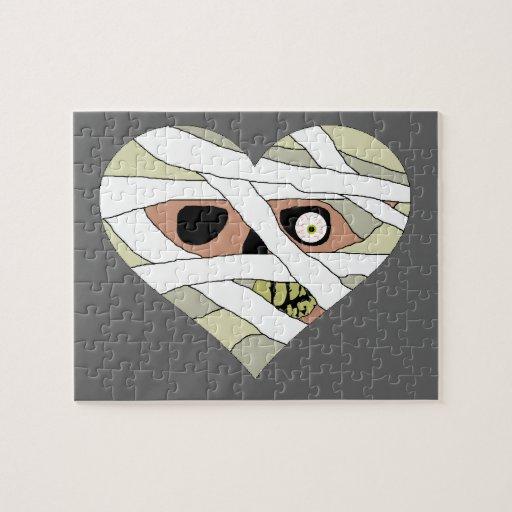 Cara del corazón de la momia rompecabeza