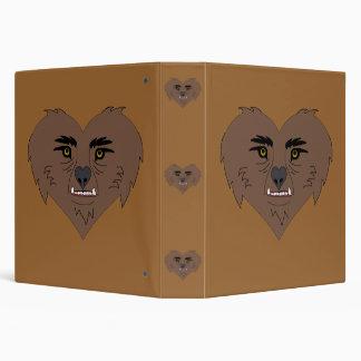"""Cara del corazón del hombre lobo carpeta 1 1/2"""""""