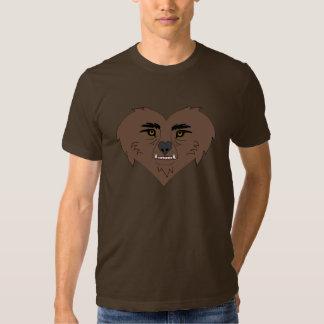 Cara del corazón del hombre lobo poleras