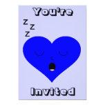 Cara del corazón el dormir invitacion personal