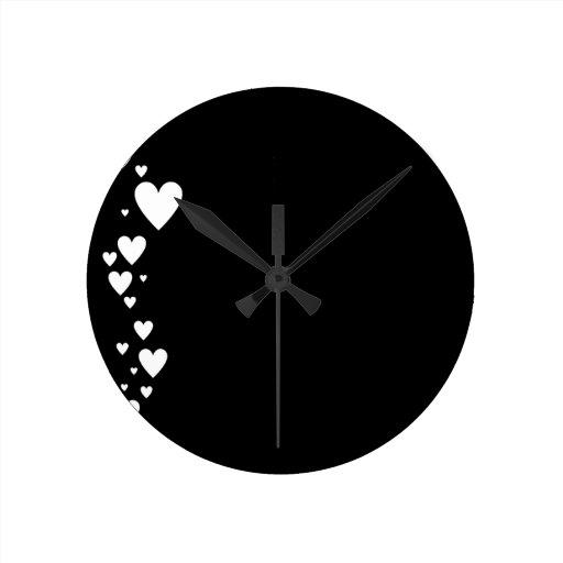 Cara del corazón IV Reloj Redondo Mediano