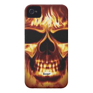 Cara del cráneo de Blackberry apenas allí - en el iPhone 4 Case-Mate Cárcasas
