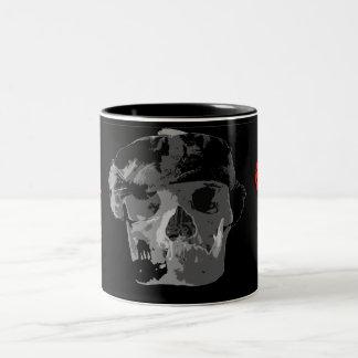 Cara del cráneo, mup del café taza dos tonos