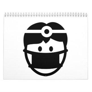 Cara del dentista calendario de pared