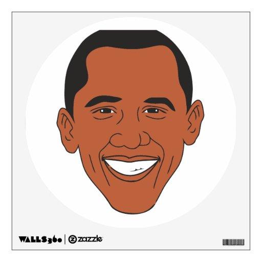 Cara del dibujo animado de presidente Barack Obama