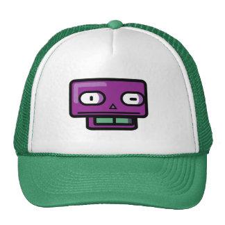Cara del dibujo animado del robot gorro de camionero