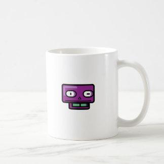 Cara del dibujo animado del robot taza clásica