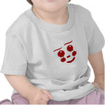 Cara del dibujo animado, mariposa feliz del payaso camiseta