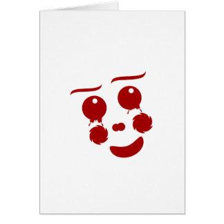Cara del dibujo animado, mariposa feliz del payaso tarjeta pequeña