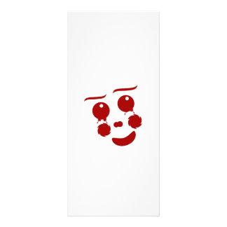 """Cara del dibujo animado, mariposa feliz del payaso folleto publicitario 4"""" x 9"""""""