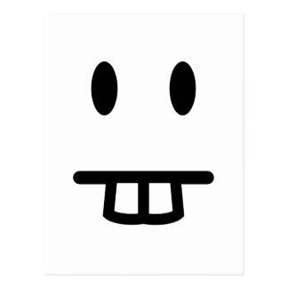 Cara del diente de conejo tarjeta postal