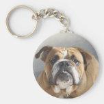 Cara del dogo - dogo inglés, Brown Llaveros Personalizados