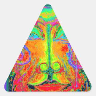 Cara del fiesta de Carnaval de la fantasía por Pegatina Triangular