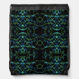 Cara del fractal del verde azul mochilas