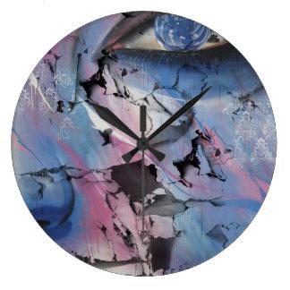Cara del fractal reloj de pared