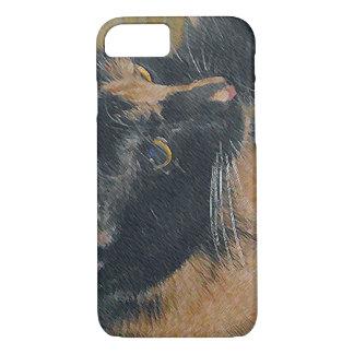Cara del gatito del calicó funda iPhone 7