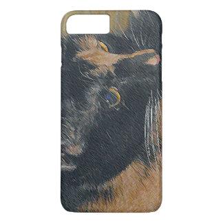 Cara del gatito del calicó funda iPhone 7 plus